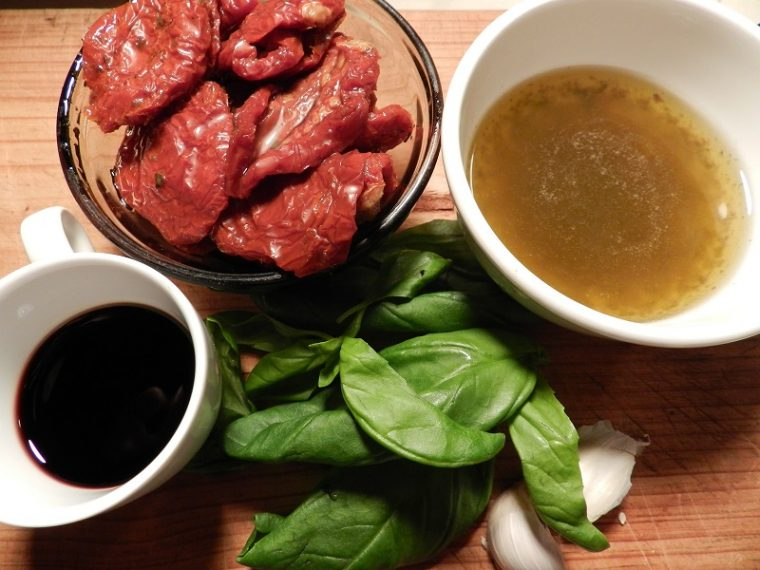 Sun-dried Tomato Marinade Mise En Place